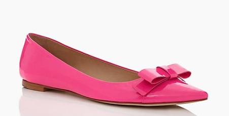 kate spade new york gabe flats pink