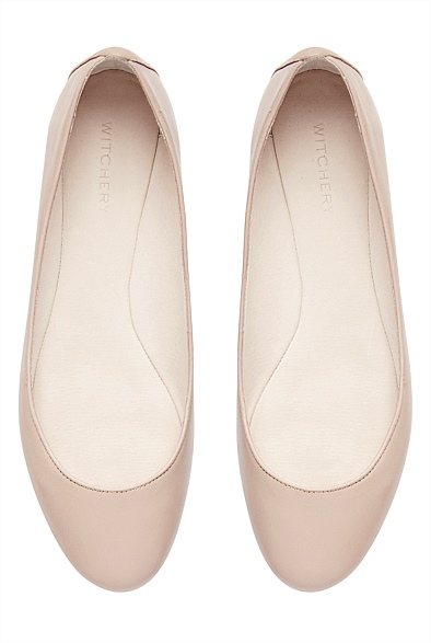 Witchery Carla Ballet Flat - Neutral