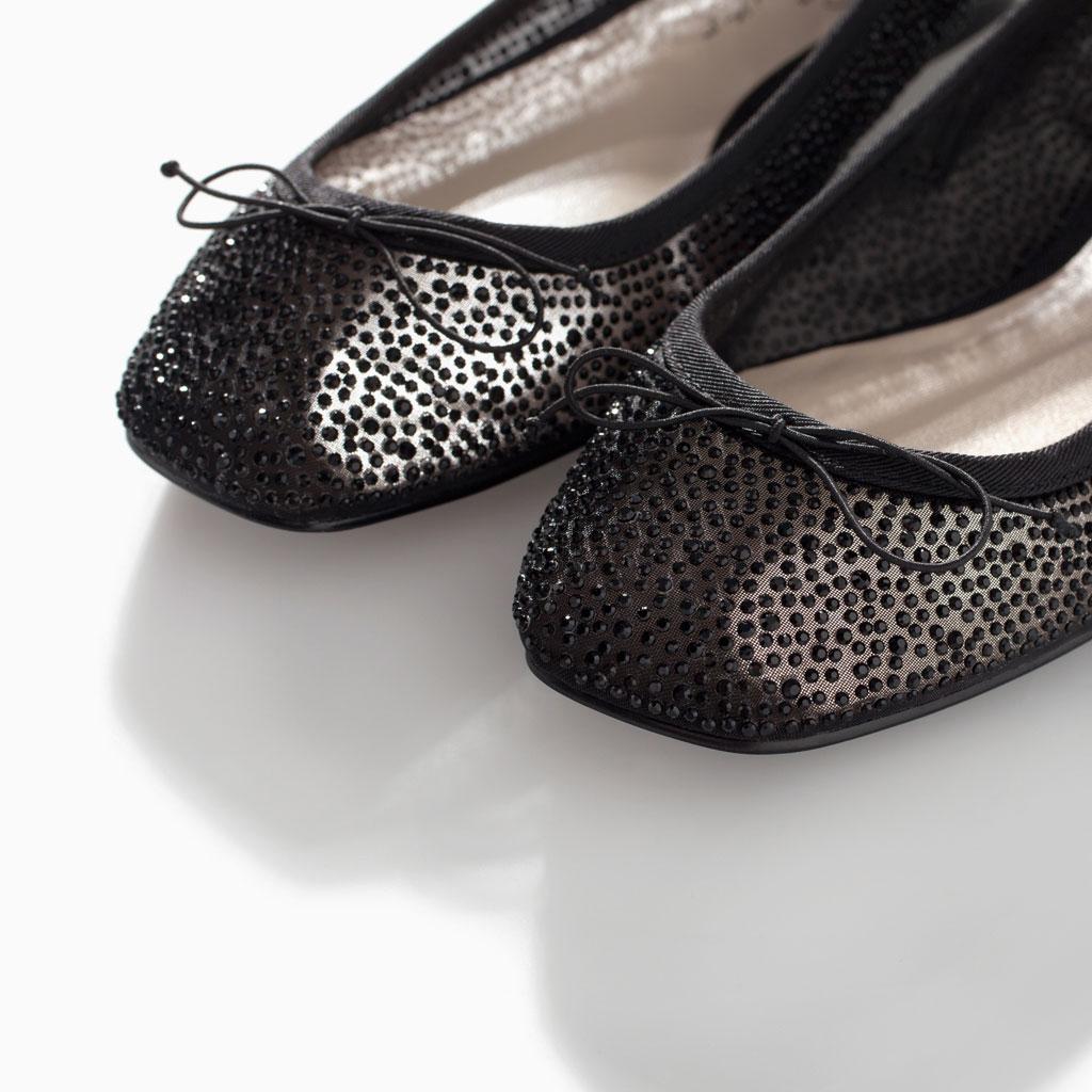 Zara Shiny Ballerina Flats