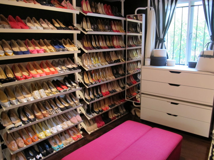 Wall of Shoes - a peek inside my wardrobe - sublime finds
