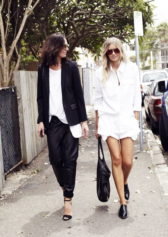 Fresh from the pages of Pinterest - these gals are nailing layering black and white pieces for monochrome mastery!
