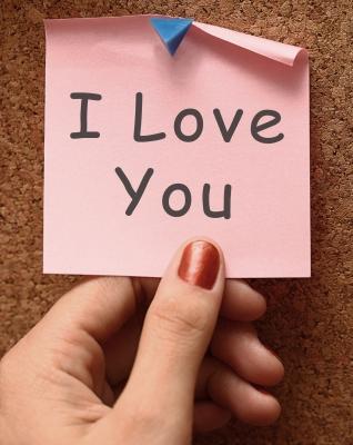I love you post-its