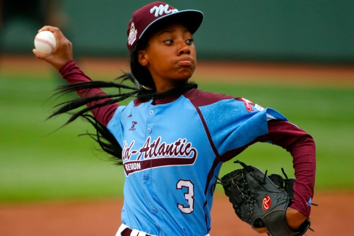 Best Moments for Women: Mo'ne David becomes hits it out of the park at the Little League World Series #notliterally #butdefinitelymetaphorically