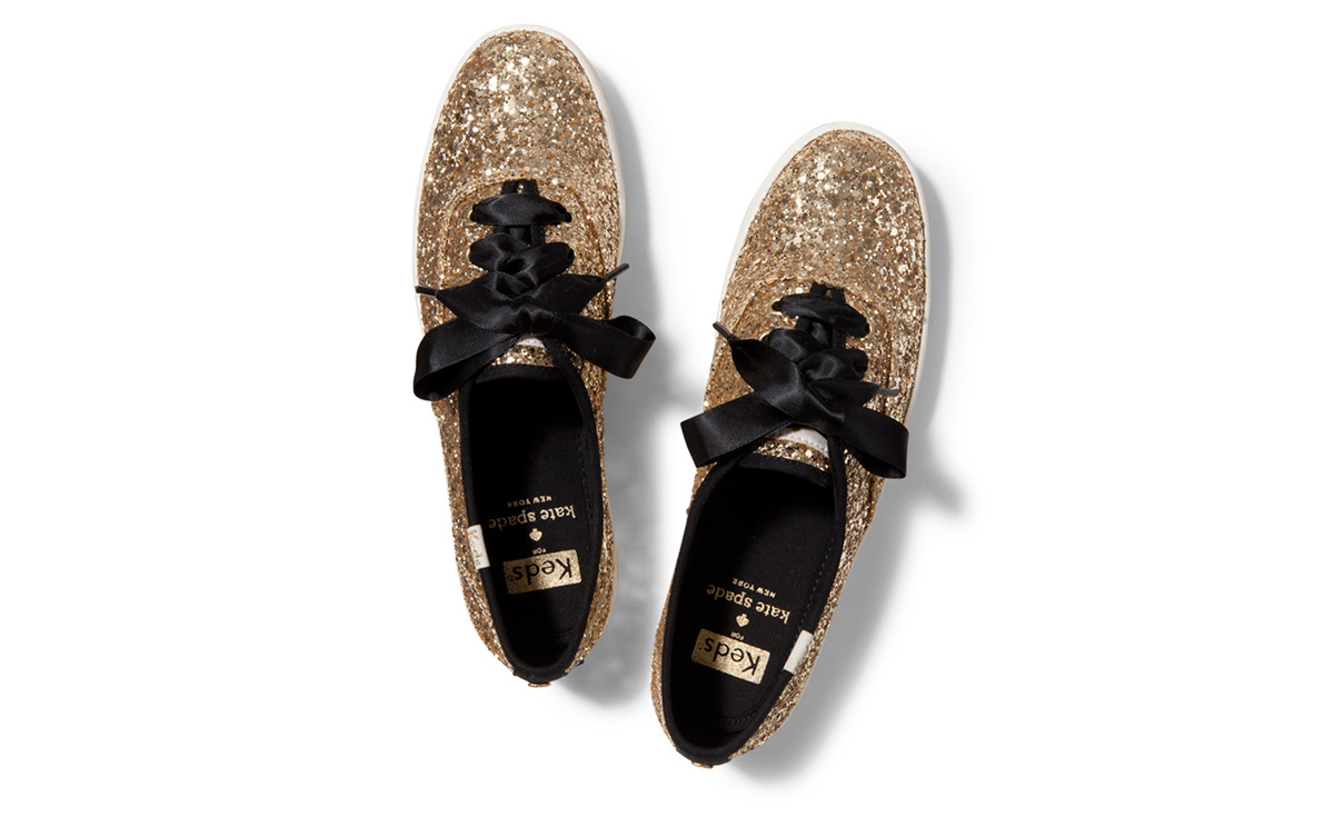 1dace390f1f Gold Glitter Keds - Sublime Finds