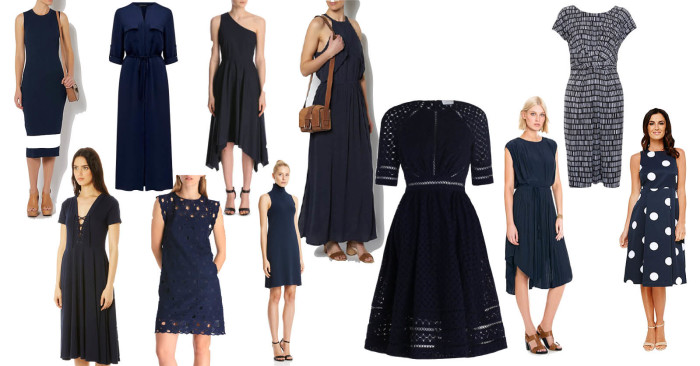 New Season Navy Day Dresses