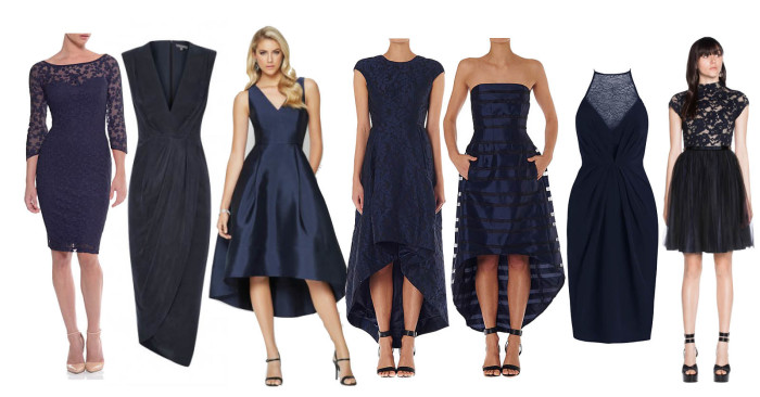 New Season Navy Evening Gowns