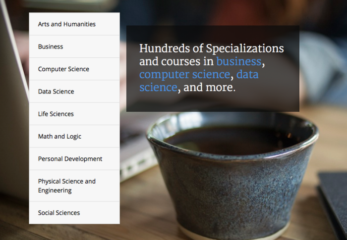 Coursera Course Categories