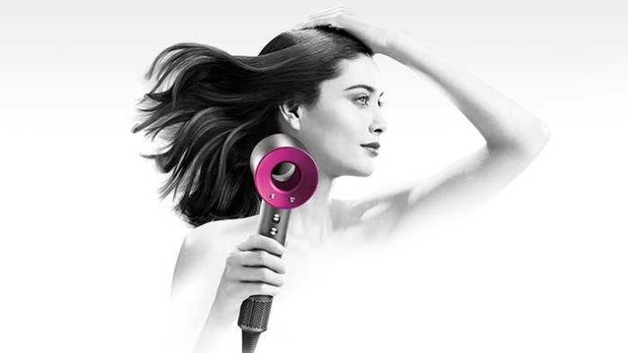 Dyson Supersonic Hair Dryer in action