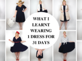 What I learnt wearing 1 dress for 31 days