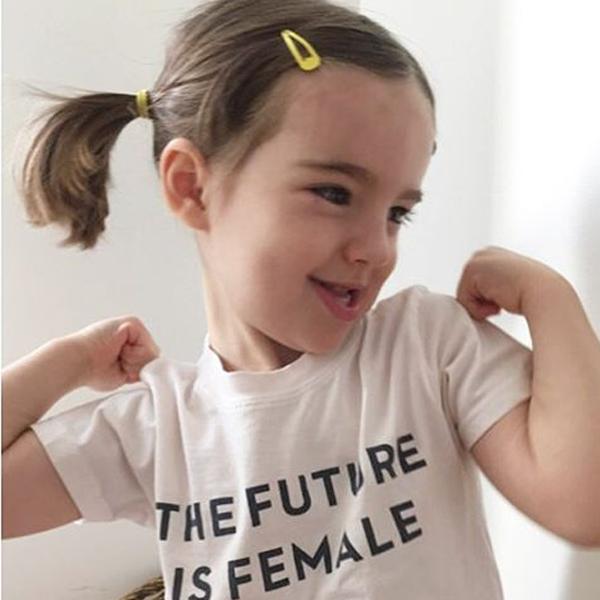 The Future is Female kids tee or onesie, $25 USD